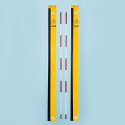 Antenne für Beach-Volleyball-Netze, zweiteilig, DVV-1 geprüft, mit gelber Haltetasche