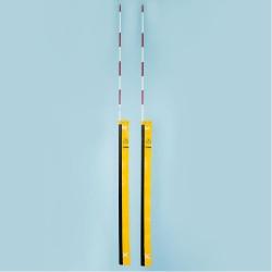 Antenne für Beach-Volleyball-Netze, einteilig, DVV-1 geprüft, mit gelber Haltetasche