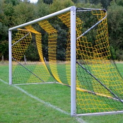 Fußballtornetz 7,50 m x 2,50 m Tiefe 0,80 / 1,50 m, PP 4 mm ø