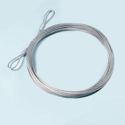 Ersatz-Drahtseil, für Volleyball-Netze, 4 mm, 11,7 m lang