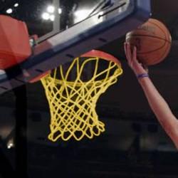 Basketball-Turniernetz gemäß DIN EN 1270, PA 4,0 mm ø