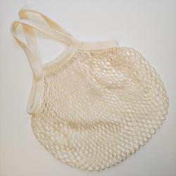 Einkaufsnetz aus Bio-Baumwolle, kurzer Henkel